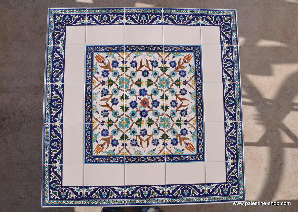 Materials Amp Supplies Hand Painted Ceramic Tiles Table